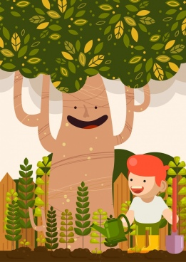 People trees free download. Planting clipart vector