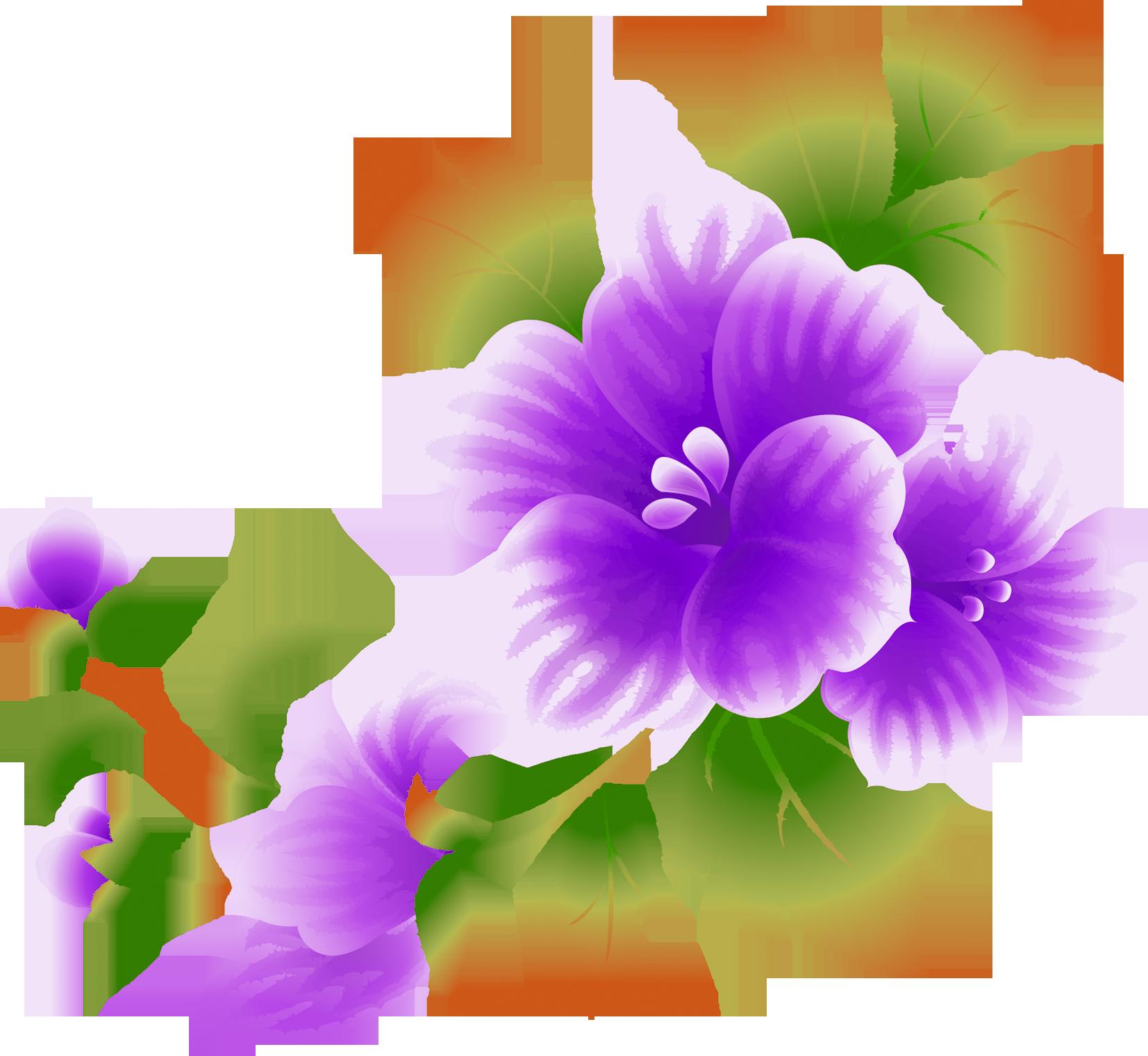 Pink flowers clip art. Planting clipart violet
