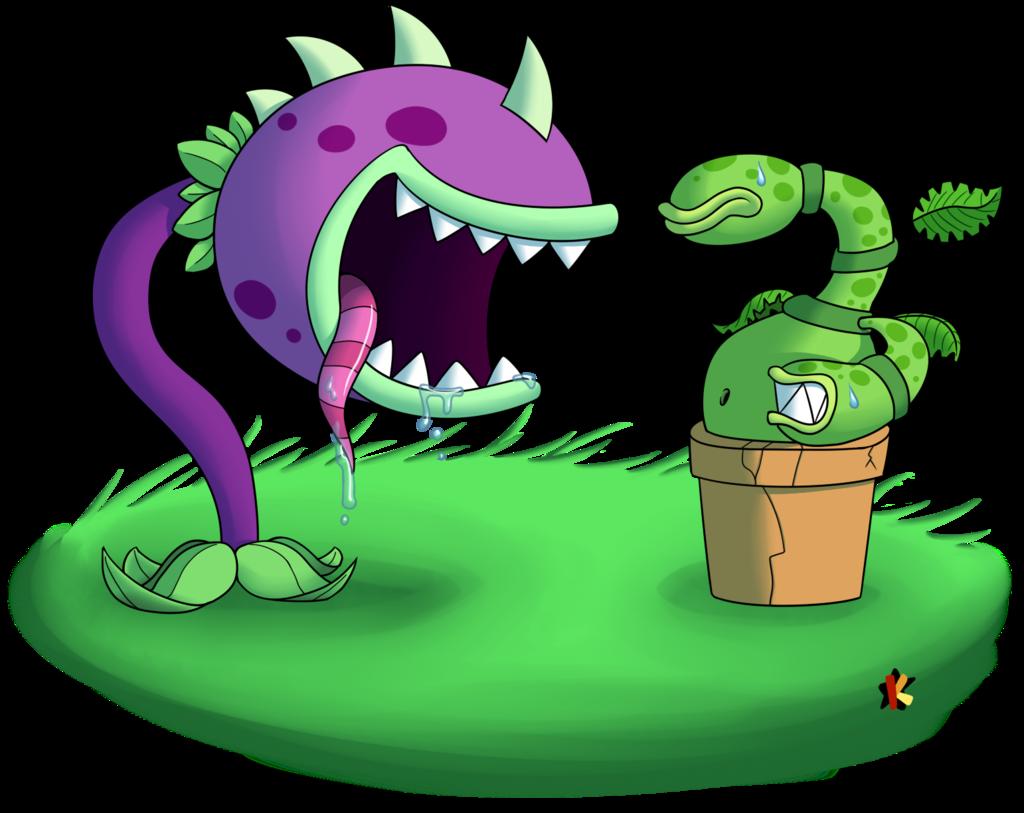 Plants clipart monster. Vs zombies by katonator