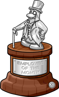 Employee of the month. Softball clipart trophy