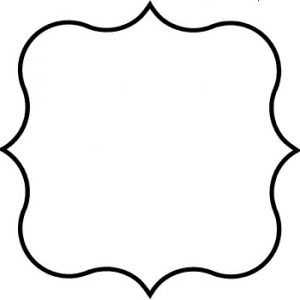 Plaque clipart fancy. Outline shape for free