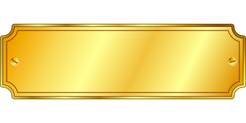 Png no background clipartfest. Plaque clipart gold