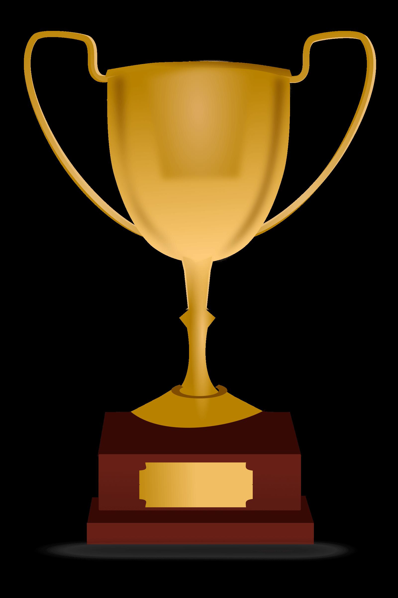 Gold trophy template free. Plaque clipart trophie