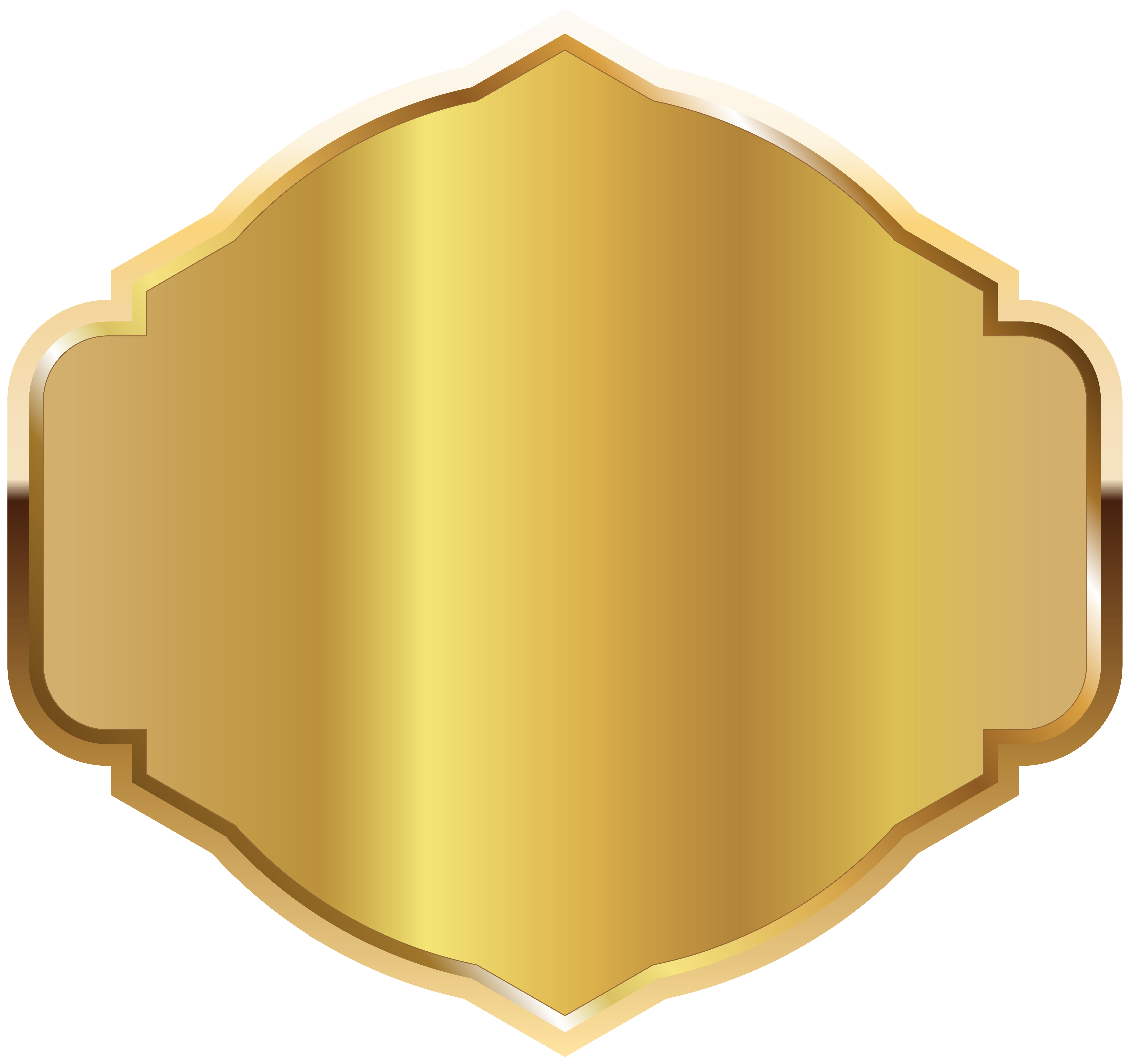 Plaque clipart yellow label. Golden template png image