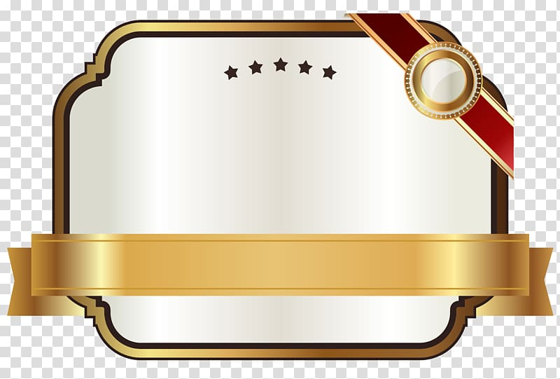 Plaque clipart yellow label. Brown and white crown