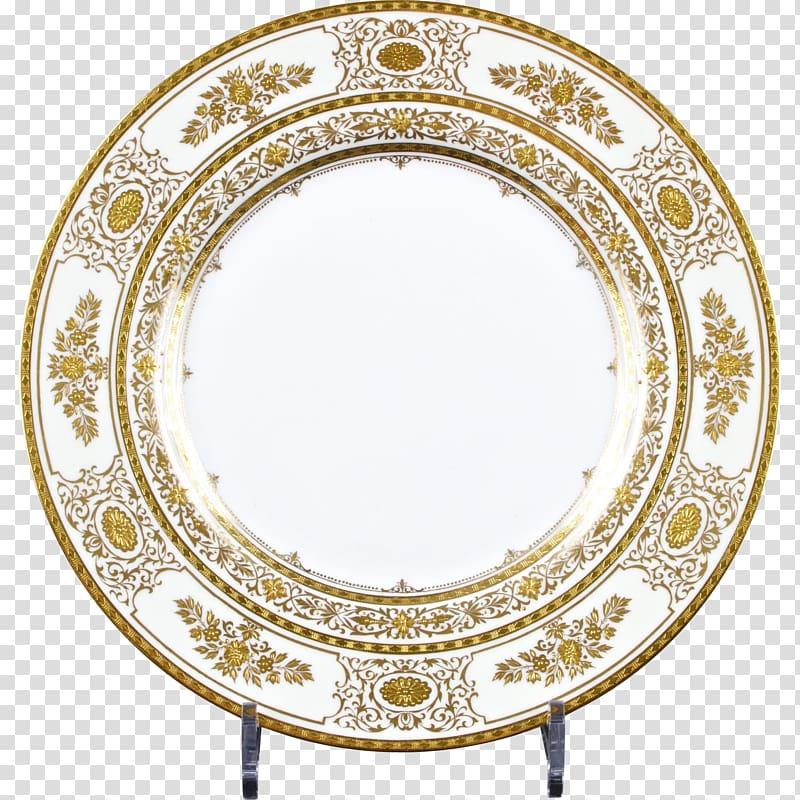 Gold platter tableware bone. Plate clipart plate china