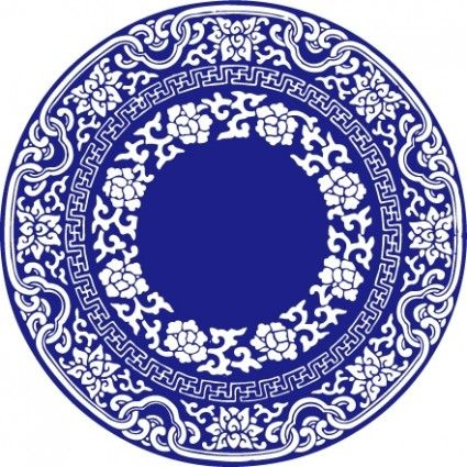 Style blue and white. Plate clipart plate chinese