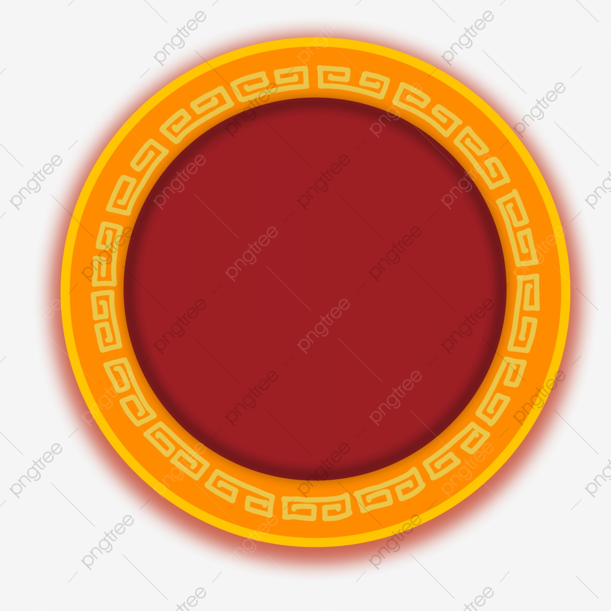 Plate clipart plate chinese. Hand drawn pattern disc