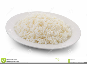 Plate clipart plate rice. Free images at clker