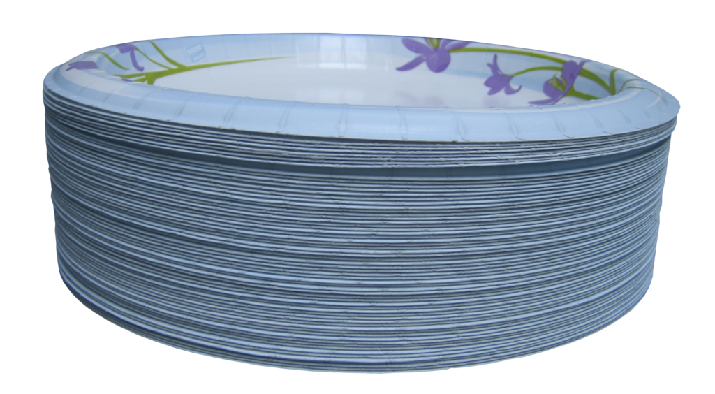 File paper plates isolated. Plate clipart stack plate