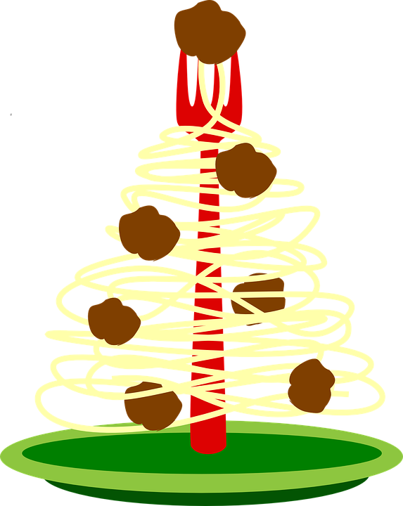 Spaghetti clipart border. Plate food free vector