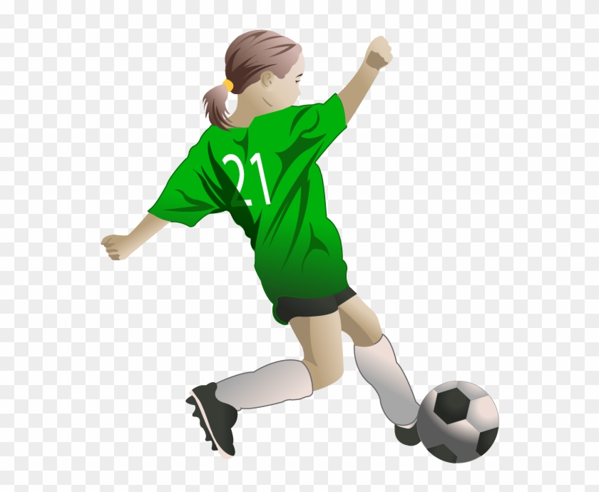 collection of players. Play clipart female soccer player