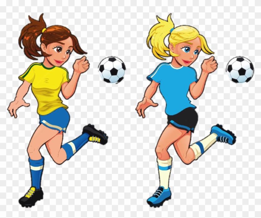 Play clipart female soccer player. Imagens de futebol
