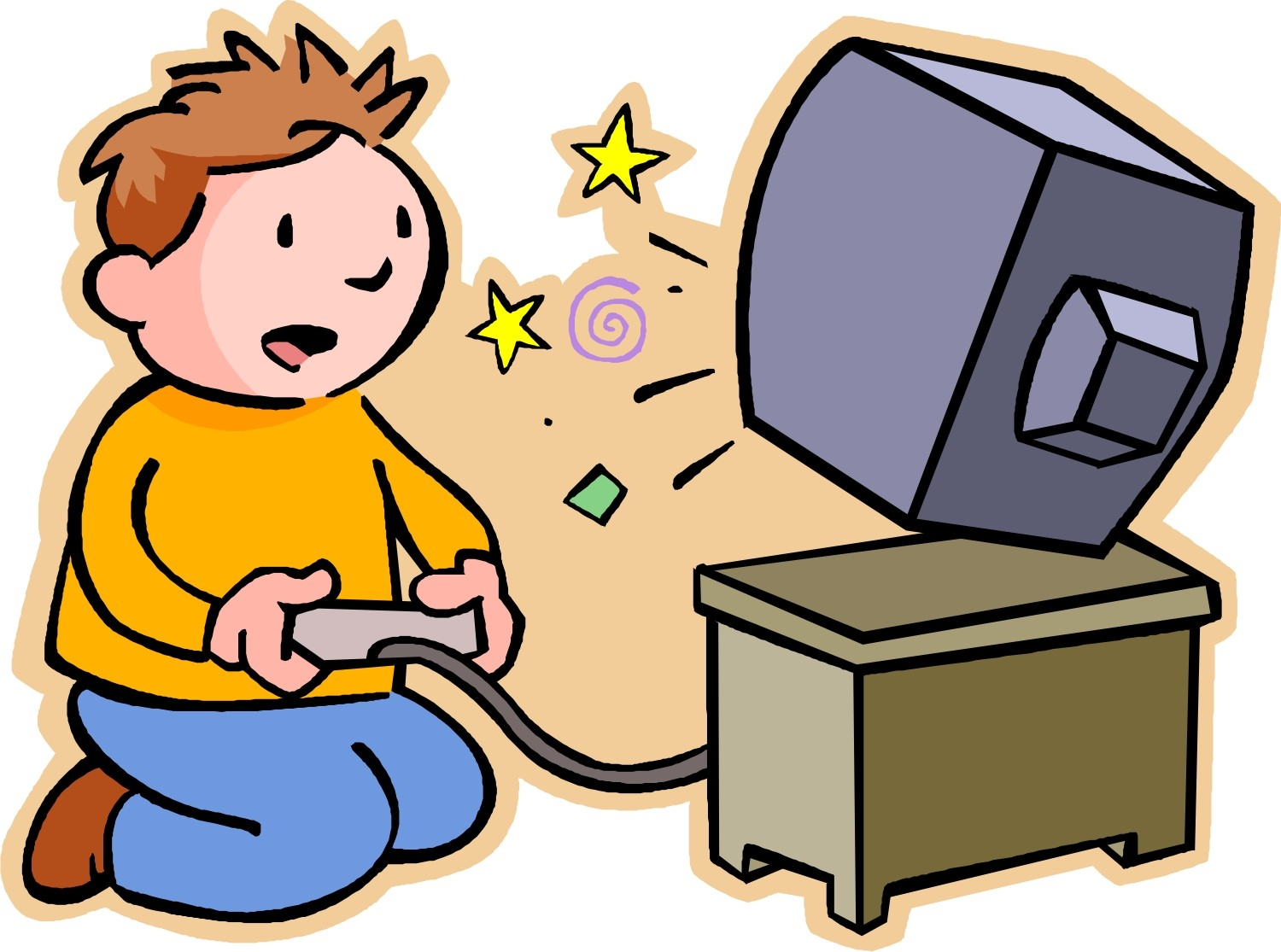 Game player clip art. Video clipart watch video