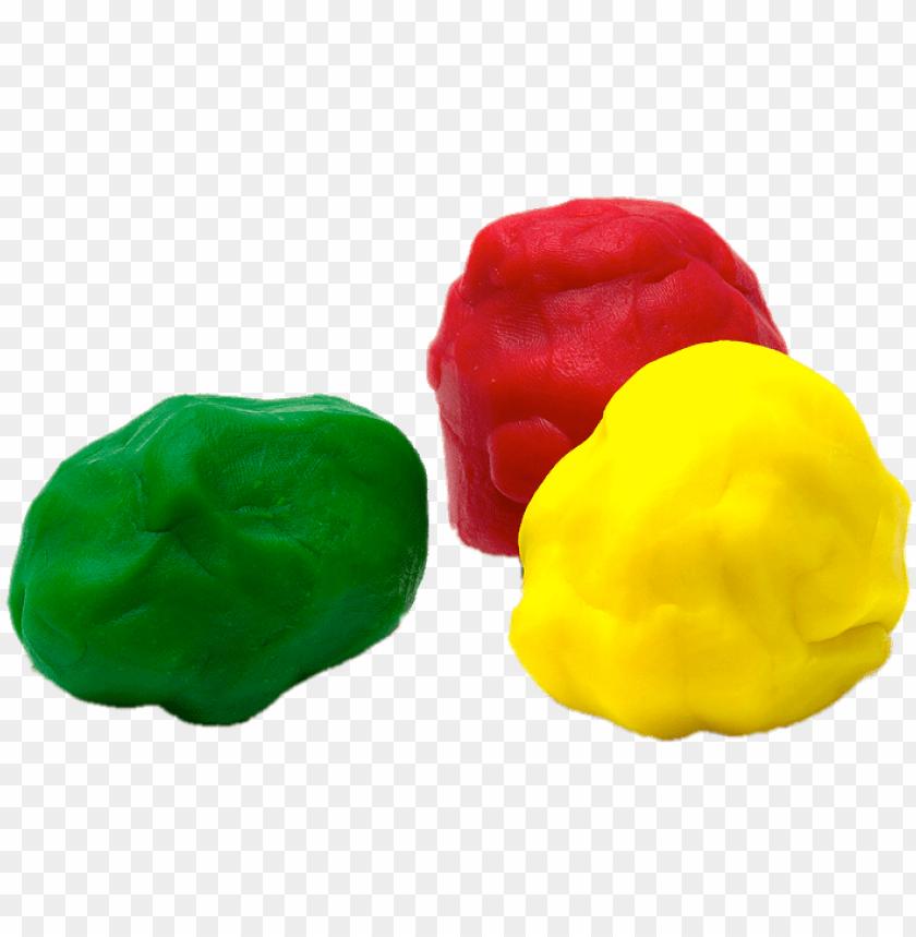 Balls of coloured plasticine. Playdough clipart ball