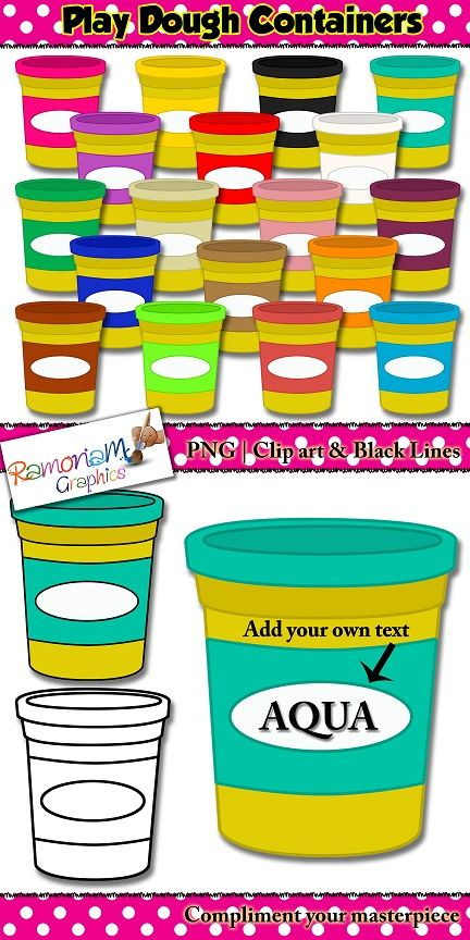 Play dough clip art. Playdough clipart playdough container