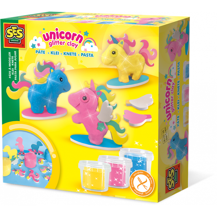 Ses creative clay unicorns. Playdough clipart playdough container