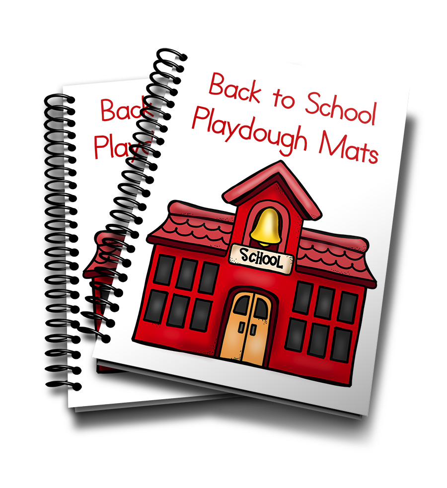 Playdough clipart preschool. Back to school mats