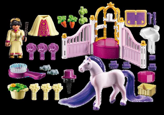 Playdough clipart princess. Playmobil castle stable educational