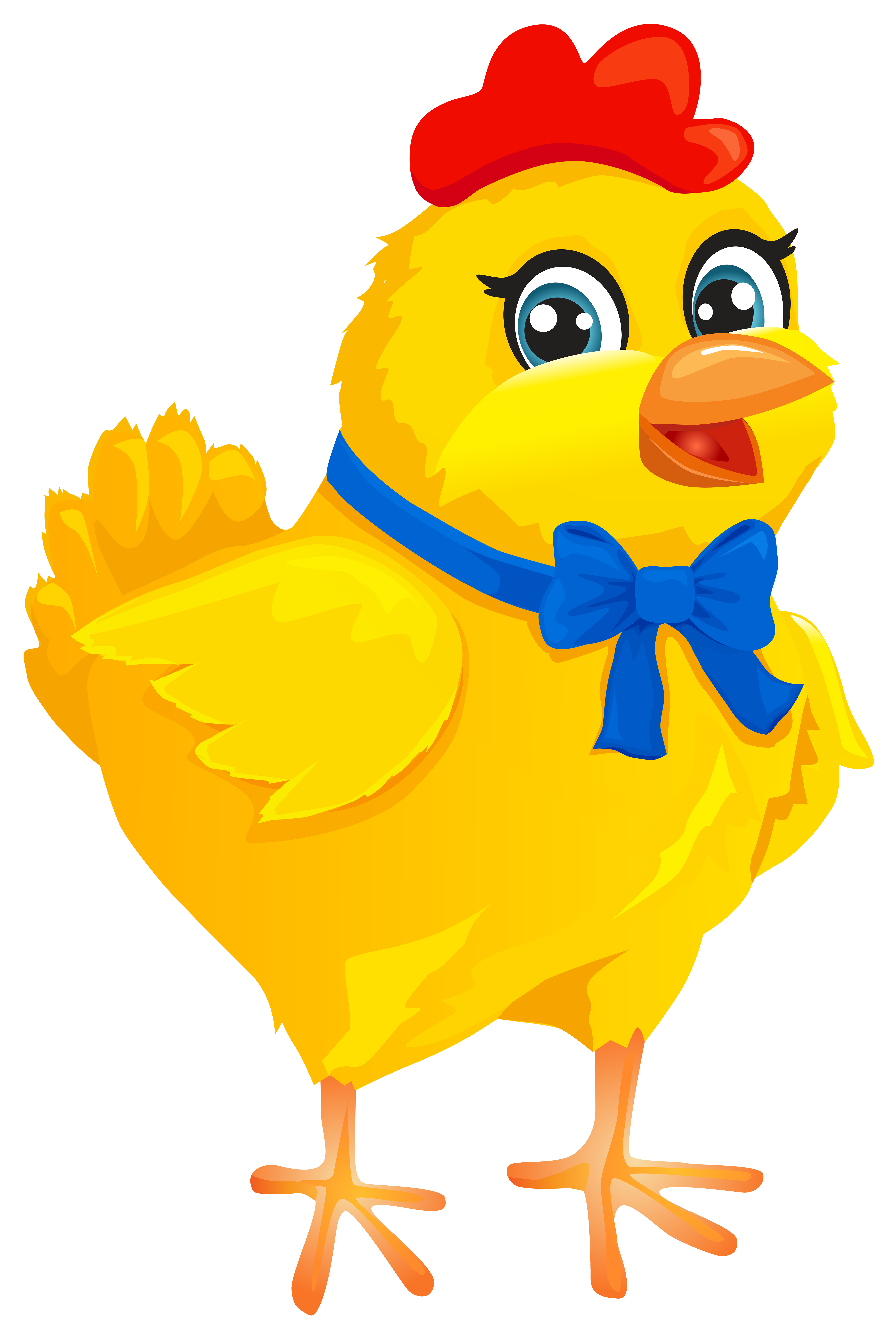 Easter chicken with bow. Playdough clipart puzzle