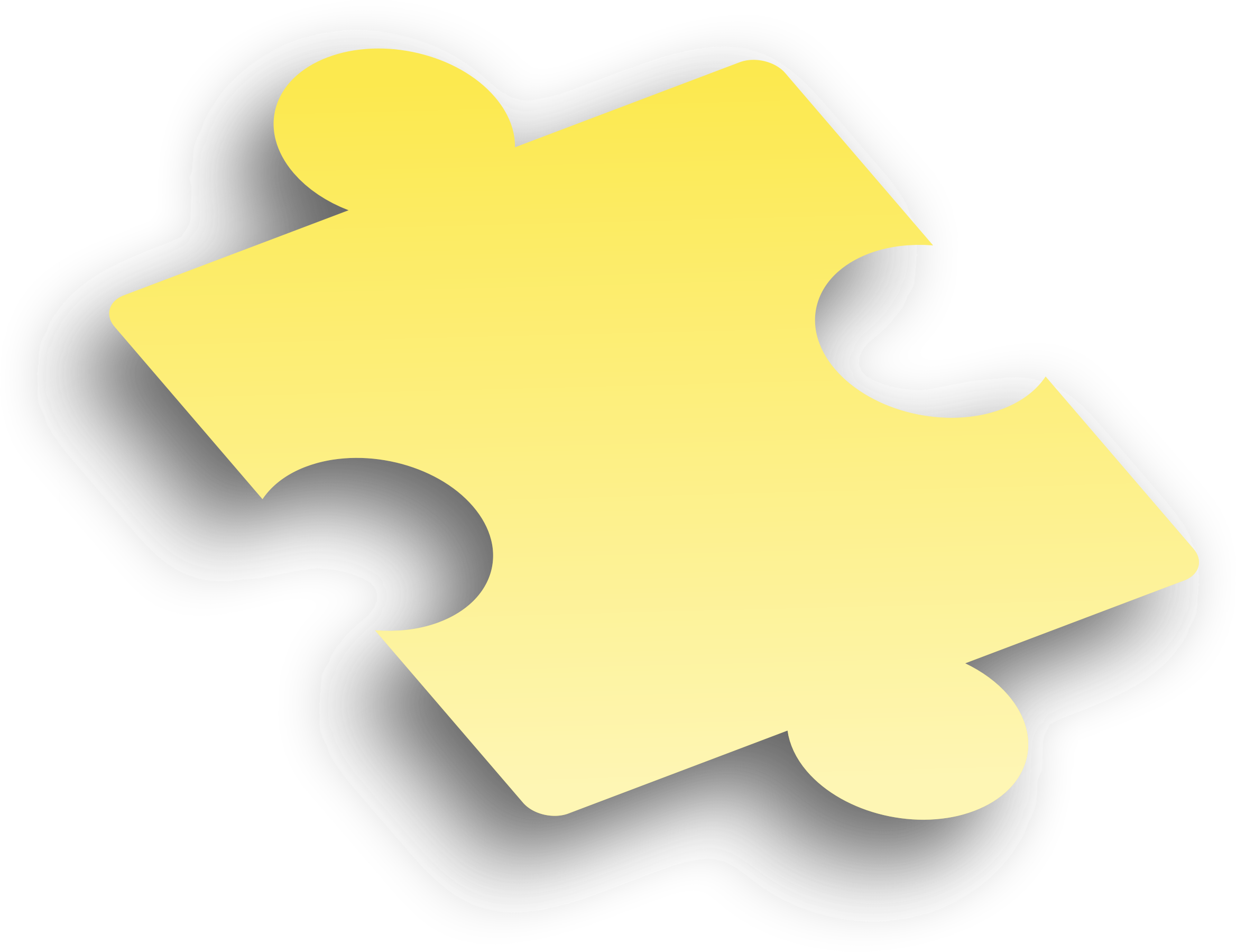Playdough clipart puzzle. Piece yellow big image