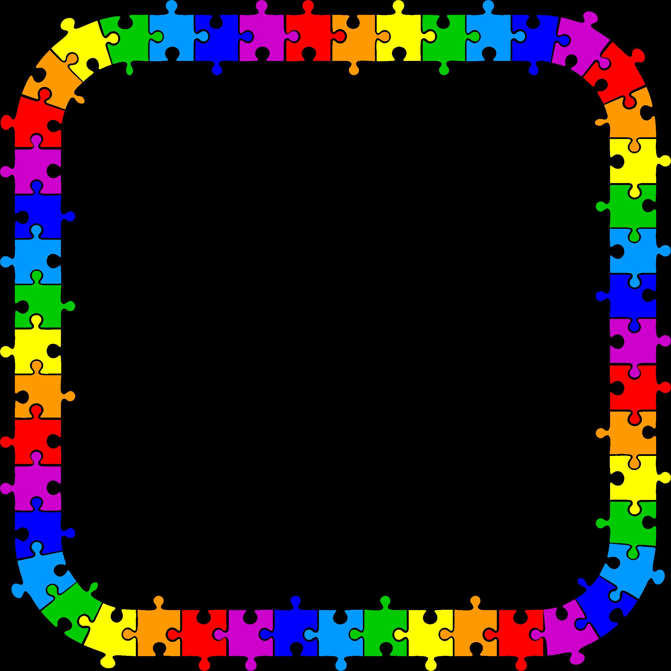 Pieces frame big image. Playdough clipart puzzle