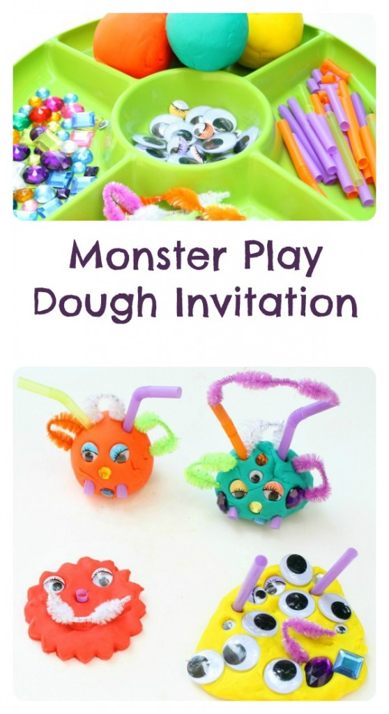 Monster dough invitation fantastic. Playdough clipart sensory play