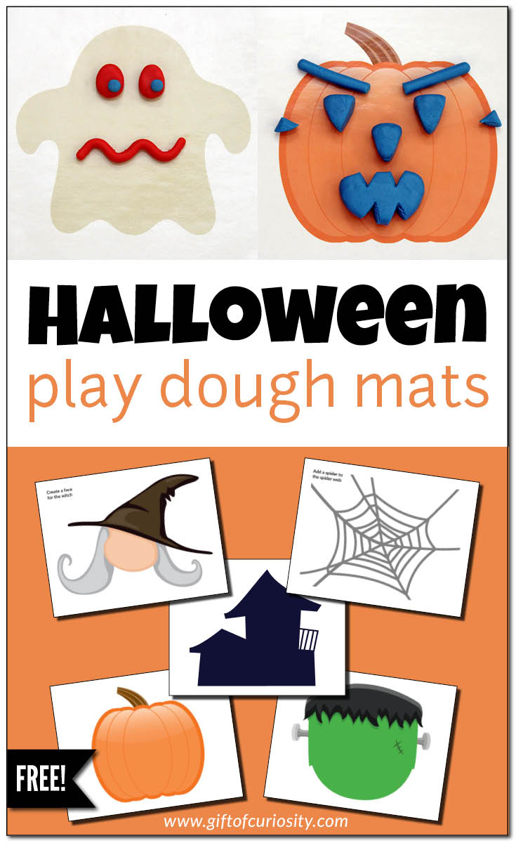 Halloween dough mats for. Playdough clipart sensory play