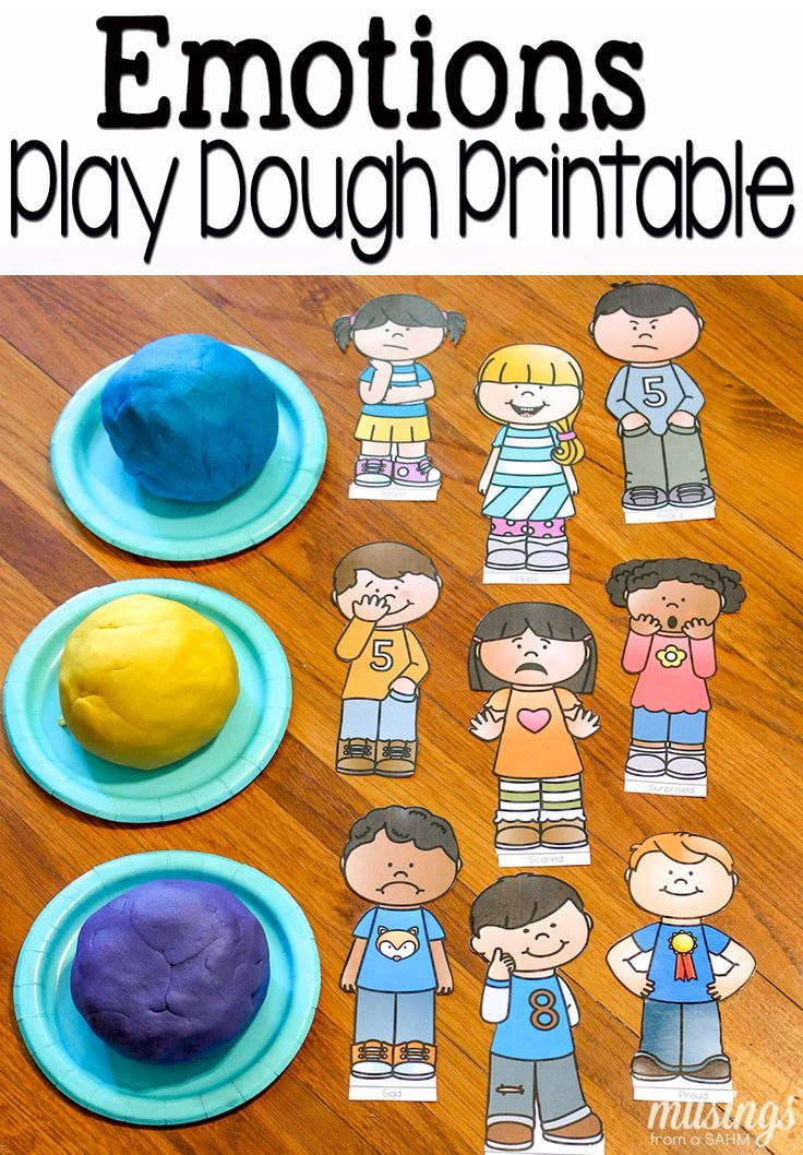 Fun with emotions free. Playdough clipart sensory play