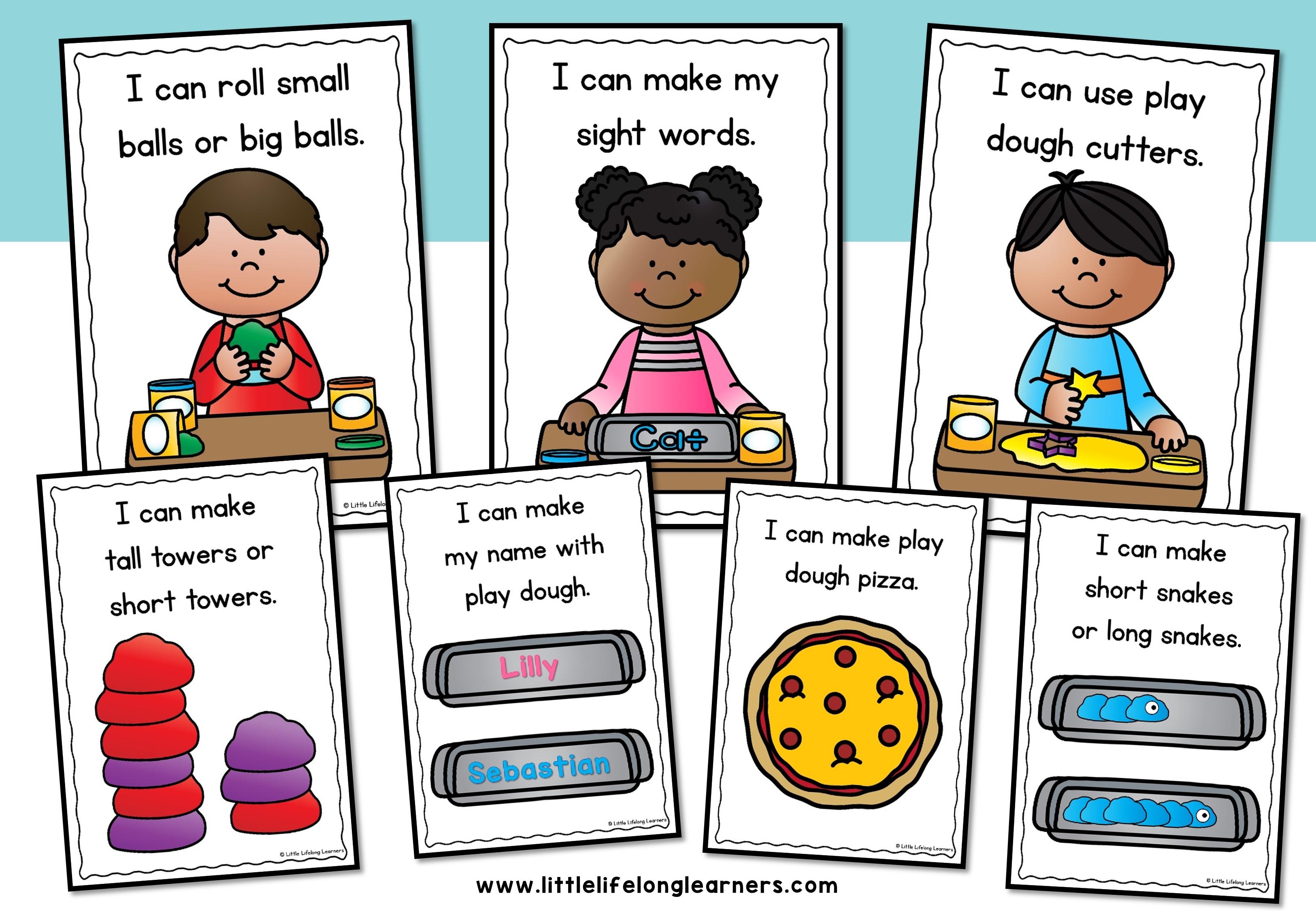 Playdough clipart small group. Play dough task cards