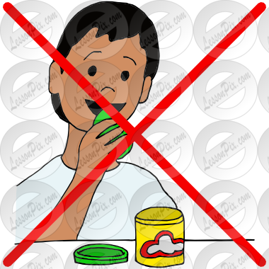 Do not eat picture. Playdough clipart small group