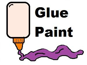 Glue paint cup white. Playdough clipart uncooked