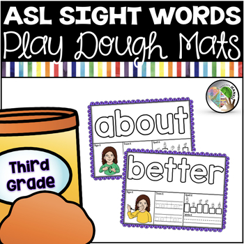 American sign language asl. Playdough clipart word