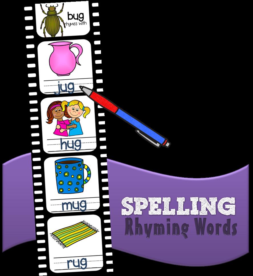Free spelling rhyming words. Playdough clipart word