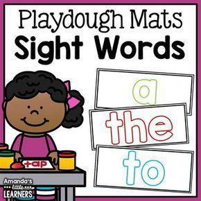 Sight mats fry first. Playdough clipart word