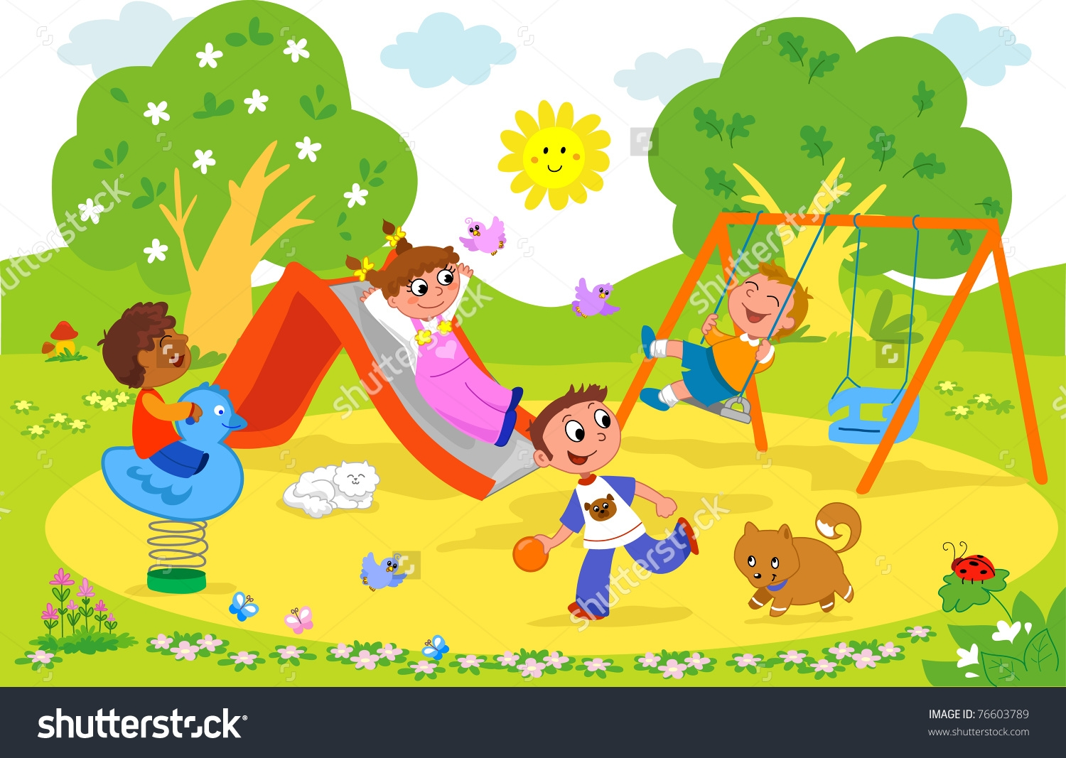Playground clipart. Unique collection digital coloring