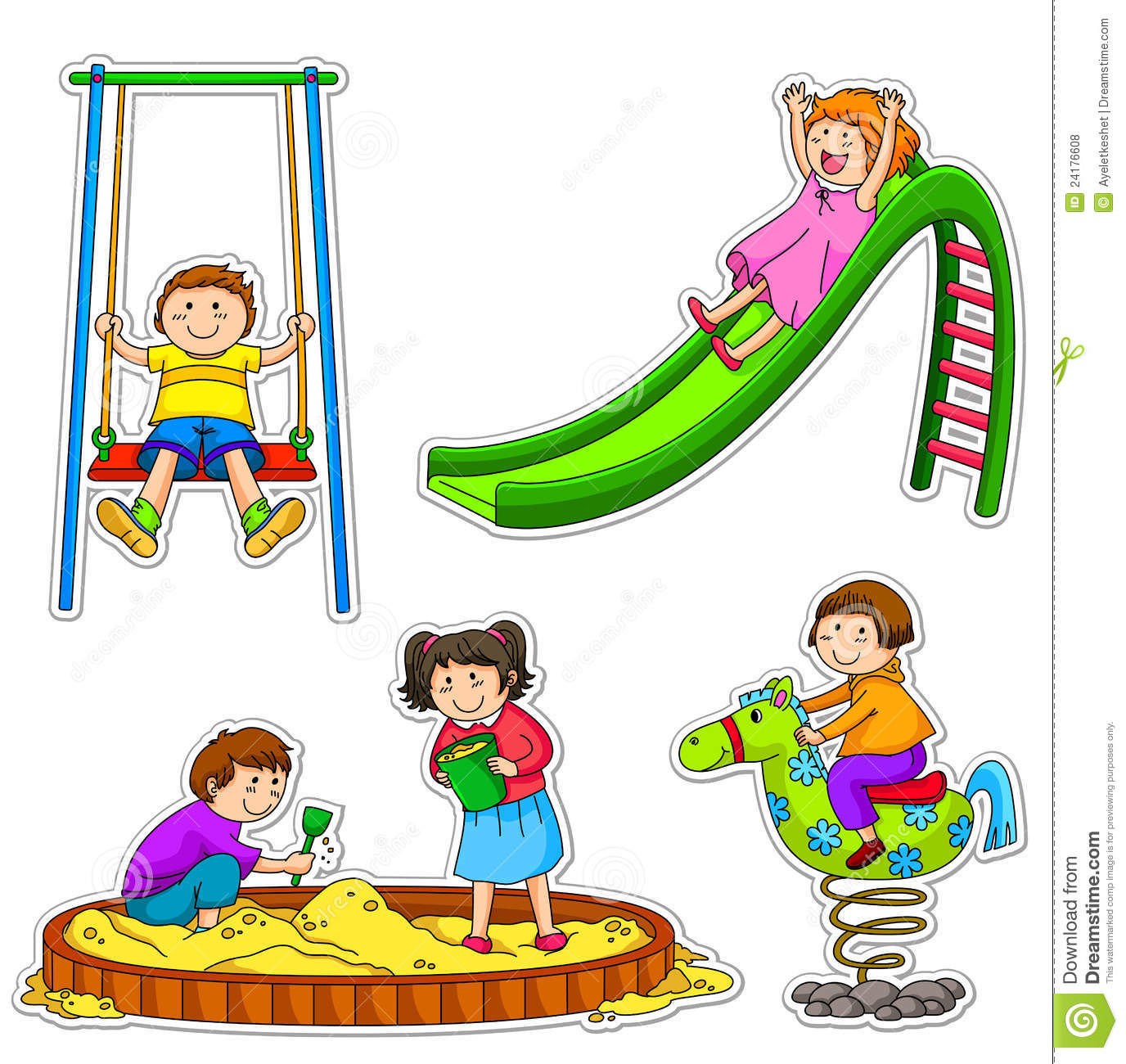 School . Playground clipart