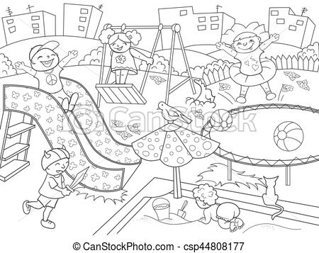 Playground clipart black and white. Drawing at paintingvalley com
