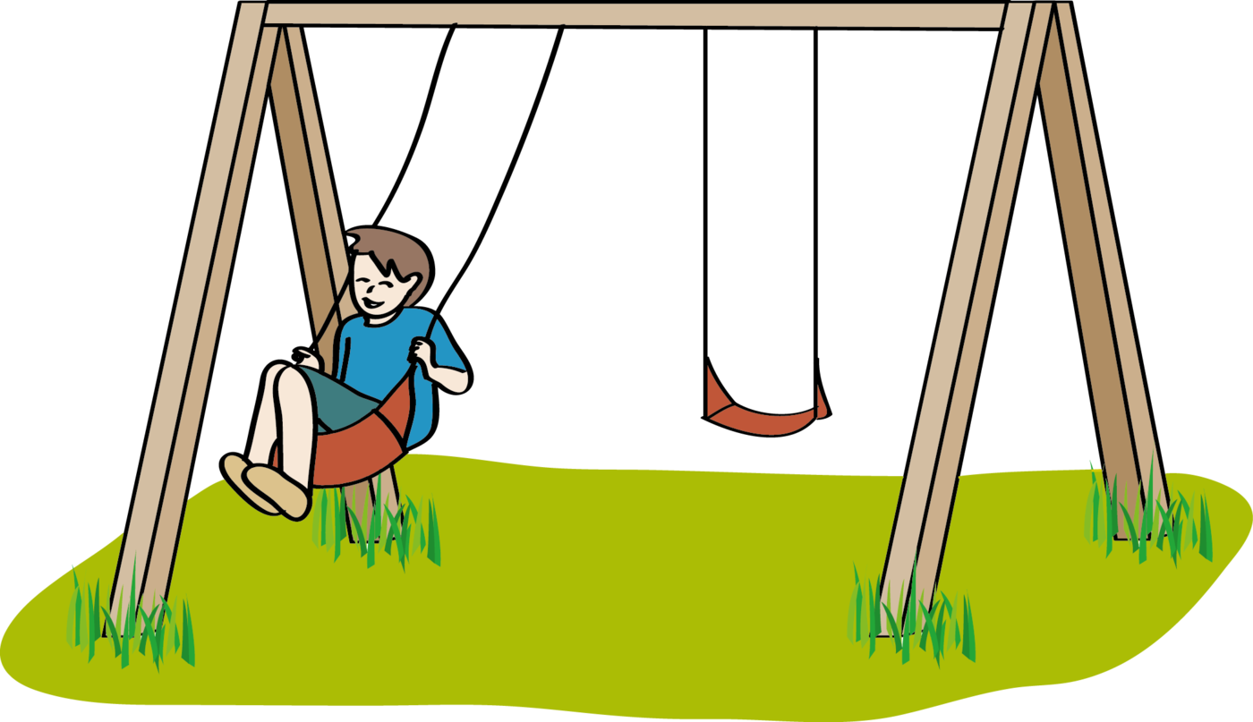 Playground clipart cartoon. Swing clip art sprache