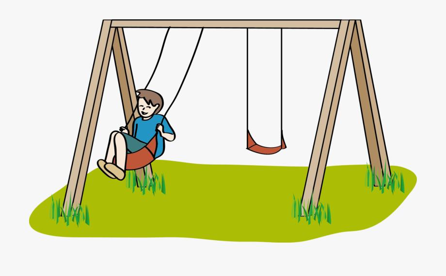 Playground clipart cartoon. Swing