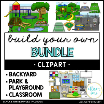 Backyard park and clip. Playground clipart classroom