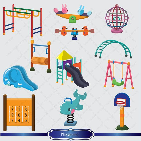 Playground clipart cute. Sale kids by digitalfileshop