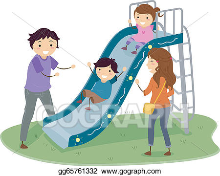 Vector art stickman in. Playground clipart family