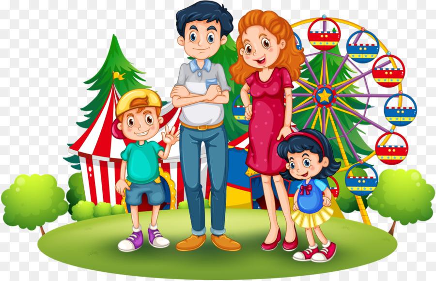 Cartoon illustration play . Playground clipart family