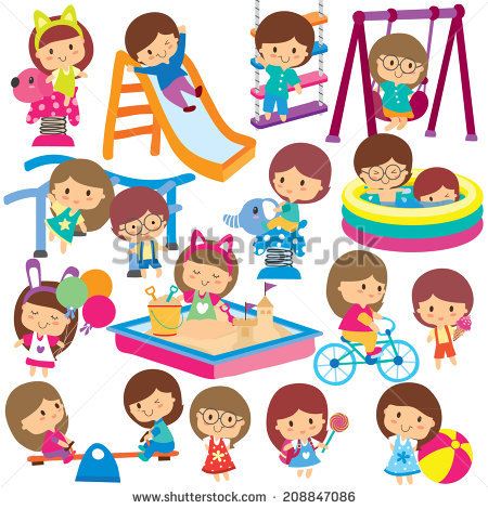 Playground clipart outdoor time. Kids park free download