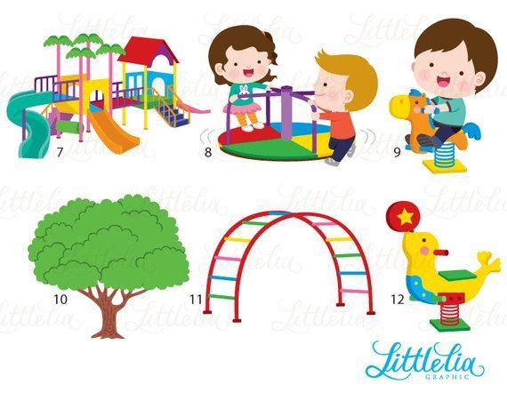 Kids kindergarten . Playground clipart playground fun