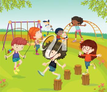 Playground clipart playground fun. Royalty free image of
