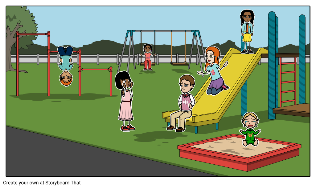 Example storyboard by ryan. Playground clipart playground game