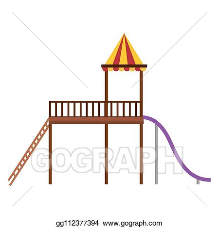 Eps vector slide for. Playground clipart playground game