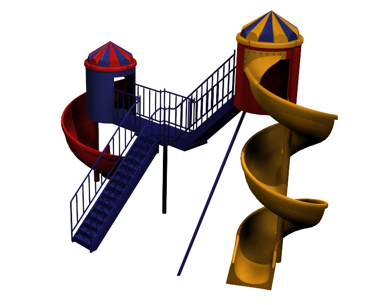 Playground clipart spiral slide. Helter skelter ds max